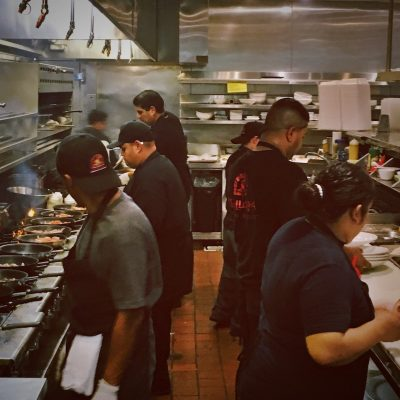 Inka kitchen working hard for a 150 guests wedding party.